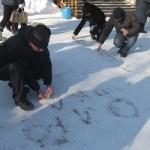 Конкурсы на улице зимой